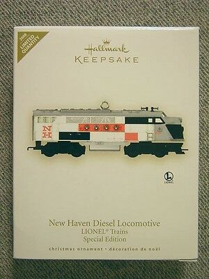 Mint 2008 Hallmark Lionel New Haven Diesel Locomotive Ornament; Special Edition