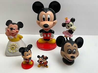 Lot Of 7 Walt Disney World Resort Danara Mickey Mouse Toys Vintage And Rare