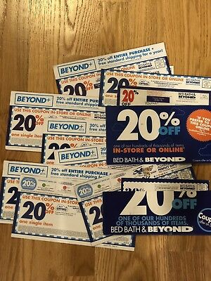25x 20% Bed Bath & Beyond Single Item Physical Coupons