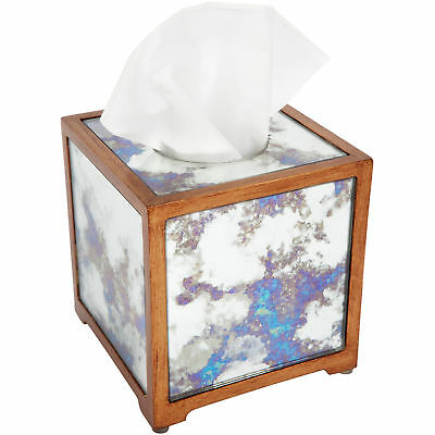 NEW Avalon Square Mirrored Tissue Box - Lexington Home,Bathroom Accessories