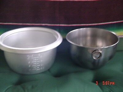 Vintage Revere Ware 6 Qt.Stainless Steel  & Aluminum Large Kitchen Mixing Bowls