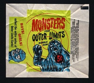 1964 TOPPS OUTER LIMITS Original 5 Cent WAX PACK WRAPPER BUBBLES INC