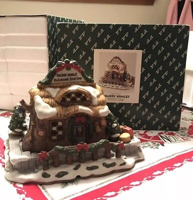 Fitz & Floyd RAILROAD STATION Enchanted Forest Holiday Hamlet ARTIST PROOF