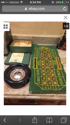 Vintage 1941  roulette wheel game by Lowe complete