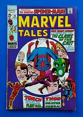 MARVEL TALES #23 ~ NOV 1969 Marvel Comics ~ Spiderman & Thor ~ CLAWS OF THE CAT