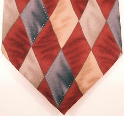 100% Silk Cocktail Colors Collection Men's Necktie Red White Blue Size 59x4