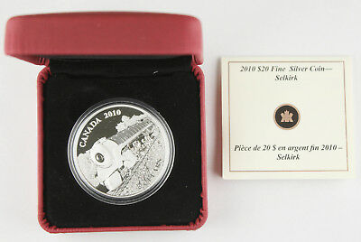 Canada 2010 Selkirk $20 1 Oz 9999 Silver Proof Coin +BOX & COA GEM
