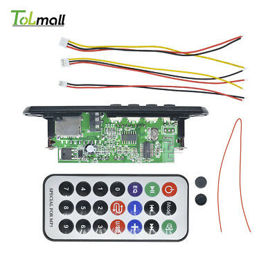 Wireless Bluetooth 12V MP3 WMA Decoder Board Audio Module USB TF Radio Car  DIY