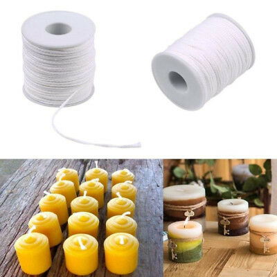 61M Spool of Cotton Square Braid Candle Wicks Wick Core Candle DIY Making AU HB7