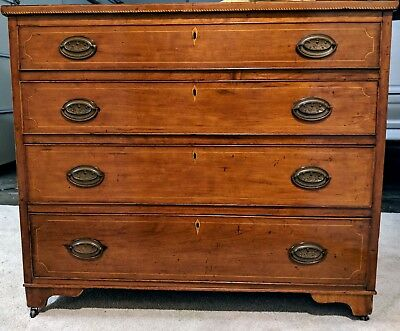 18th Century American Four Drawer Mahogany Dresser