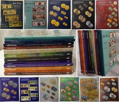 2017 Us Heritage Coin Currency Auction Catalogs Stacks Bowers Gold Morgan Dollar