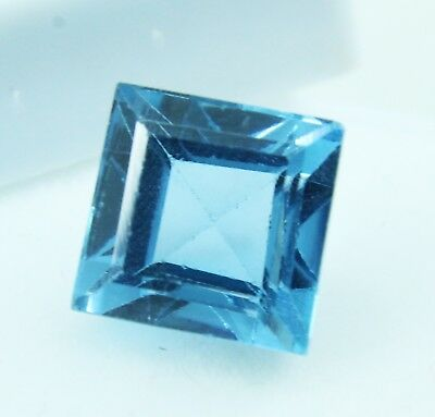 7.55 Ct Natural Emerald Cut Transparent Ocean Blue Aquamarine Gem GGL certified