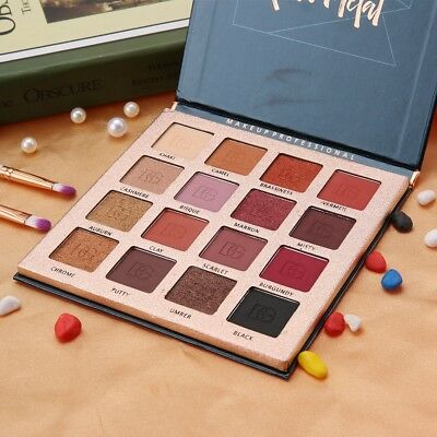 16 Colors Matte Glitter Shimmer Natural Eye shadow Palette Makeup Cosmetics Tool