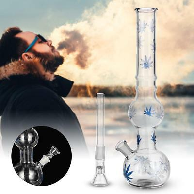 Hookah Water Bong Smoking Pipe Glass Beaker Filter Clear Maple Leaf Tobacco Bowl