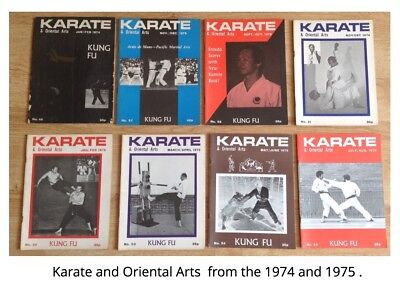 karate and oriental arts magazines from 1974 and 1975