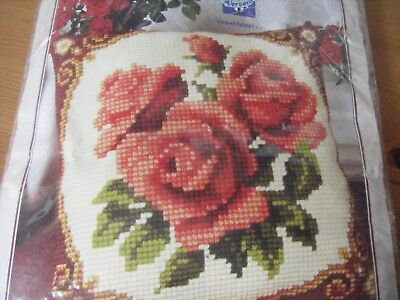 Vervaco Red Roses Tapestry Cushion Kit
