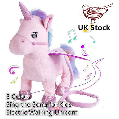Walking Talking Unicorn Electric Plush Toy With Singing Song Kids Xmas Gift UK D