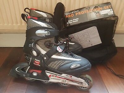 Inline padded roller skates size 6 plus FREE knee and elbow pads !!