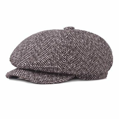 Peaky Blinders Hat Gatsby Newsboy Grey Tweed Baker Boy Herringbone Flat Flat Cap
