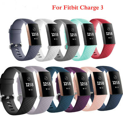 For Fitbit Charge 3 Replacement Sports Strap Silicone Wrist Watch Bands Bracelet