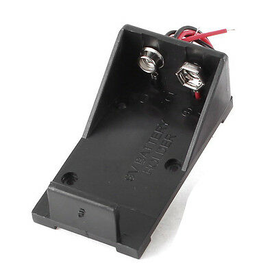10 Pcs High Quality Black Plastic 9V Cells Battery Holder Case Box Wired Leads