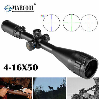 Marcool Est 4-16X50  Aoirgbl Rifle Scope Target Shooting Hunting  Rgb Reticle