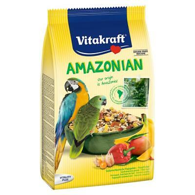Vitakraft AMAZONIAN BIRD FOOD Parrot Macaw Conure Tropical Fruit Complete Menu