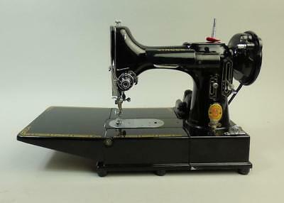 Fine Singer 222K Electric Sewing Machine Feather Weight Lovely Example