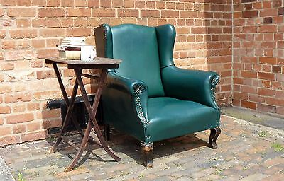 1900 Late Victorian Wingback Armchair
