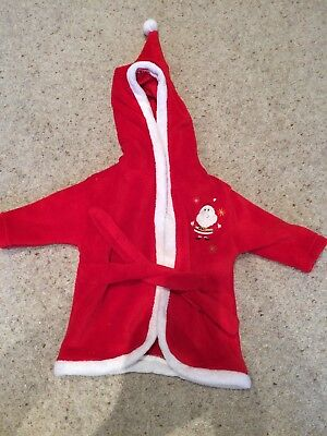 Christmas Dressing Gown Size 3-6 Months