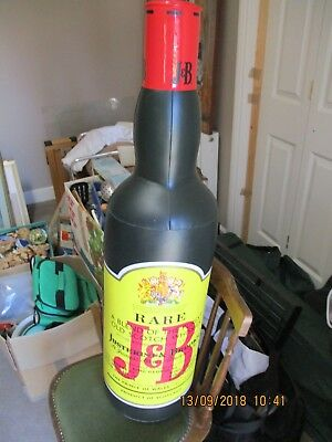 J&B inflateable whisky bottle rare, only 25 made