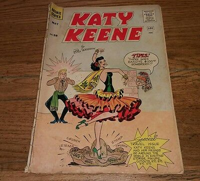Katy Keene #59 Bill Woggon Vintage comic book 1961 Dancing cover Travel Issue