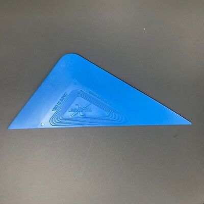 Blue Tri-Edge X Squeegee (Soft) - Car and Window Tinting Fitting Tool