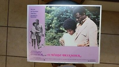 A Warm December 1973 #4 11X14 Lobby Card Sidney Poitier Esther Anderson Vintage