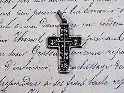 Antique our Vintage Sterling Silver Crucifix Cross Very Attractive
