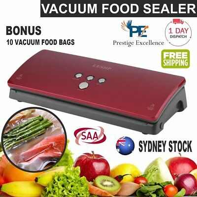 Vacuum Food Sealer Machine Saver Storage Preservation Heat with Free Bags WDS