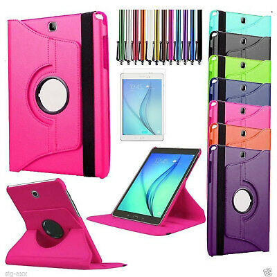 360 Rotating Smart Leather Case Cover for Samsung Galaxy Tab SM P550/T555/T550