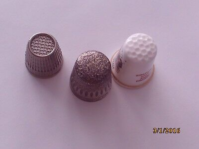 Three Thimbles For The Collector 1 Silver, 1 Historic, 1 From Germany