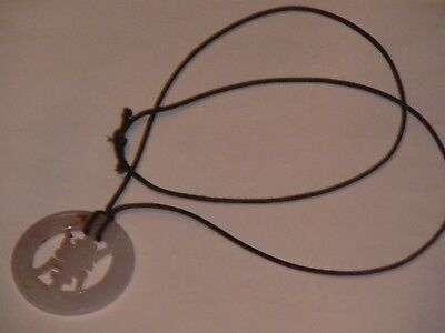 Antique Chinese Lilac Jade Pendant On Cord