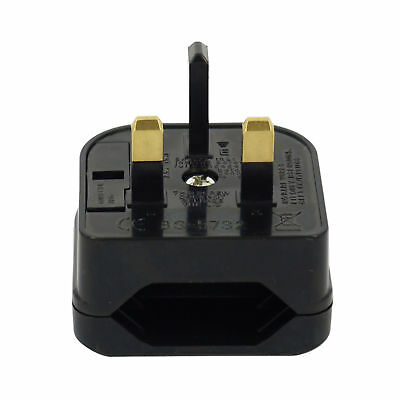 Travel Adapter Plug Converter EU Europe European 2 Pin To UK 3 Pin