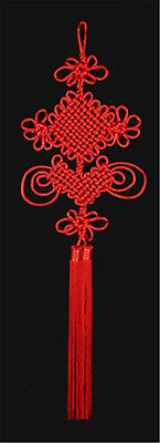 """38.58""""x10.63"""" Red Large Prosperous Chinese Knot Home&Festival Gift for Feng Shui"""