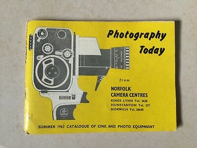 Photography Today Summer 1963 Catalogue Of Cine & Photo Equipment