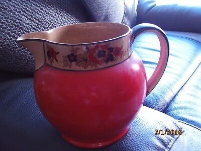 Rare Wedgwood Vintage Ceramic Jug - Hand Decorated With  Richelieu Pattern