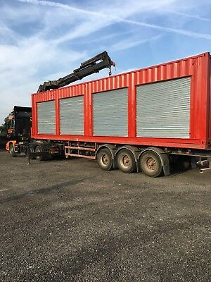 Shipping Container 40ft - 4no roller shutters Rent from £65.00 per week