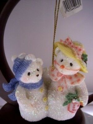 Cherished Teddies ORNAMENT Frosty & Aurora POG EXCL NIB * FREE USA SHIPPING