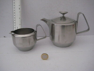 Very Rare Vintage Old Hall Robert Welch Alveston Stainless Steel Teapot And Jug