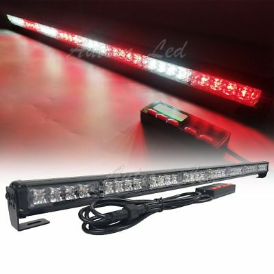 "35"" 32 LED Traffic Advisor Beacon Strobe Lightbar Flashing Auto Patrol Red White"