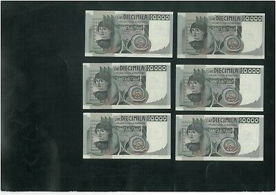 ITALY 10000 Lire (1976) Set of 10 banknotes