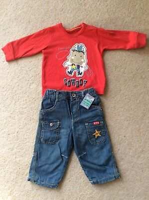 Marks and Spencer boys top and jeans age 9-12 months