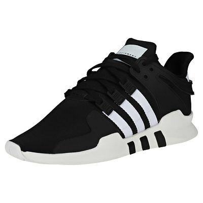outlet store eec65 bba4f adidas Eqt Support Adv Hombres Black White Textil y Sintetico Zapatillas